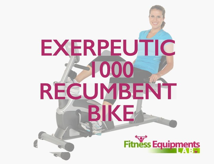 Exerpeutic 1000 Magnetic Recumbent Bike