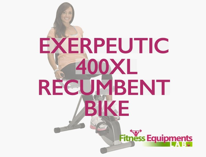 Exerpeutic 400 XL Folding Recumbent Bike